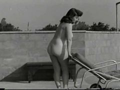 Beautiful 40s Babe By The Pool