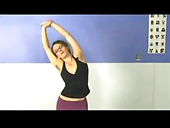 a yoga girl with hairy armpits