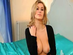 Blond Whore With Unbelievable Lingerie