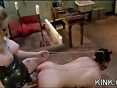 Huge tits, submissive housewife, dominated, bound