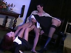 Nun footjob and blowjob