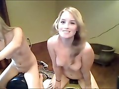 two hot blonde webcam girls screaming orgasms on sybians