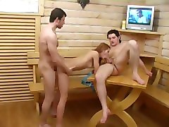 hot threesome after sauna