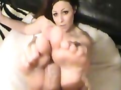 pov footjob by jessie jolie