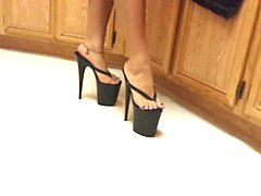 platform high heel thongs