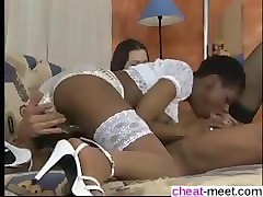date her on cheat-meet.com - short hair ebony swarovski fraulein anal