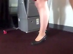 air stewardess legs show