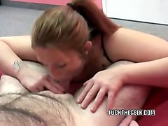 zoie starr is swallowing a stiff cock