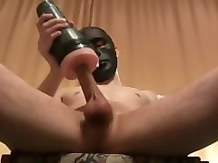 black mask fucked fleshlight ass