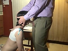 sissy schoolgirl wants oral exam