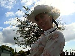 hot cowgirls orgy outdoors with horny dudes