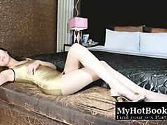 asian glamour  escort girl in sexy clothes  no porn