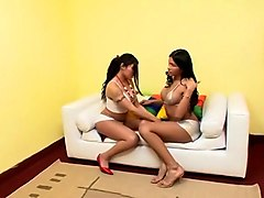 Crazy Homemade Shemale movie with Fucks Shemale, Latin scenes