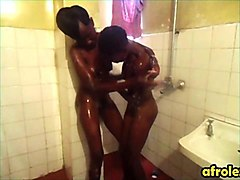 amateur black lesbians get each other off in the shower