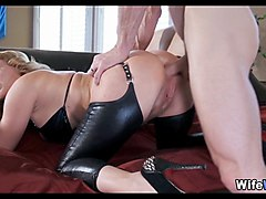 crazy leather fetish wife