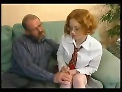 Nervous pretty student gets a lesson in fucking !