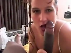 When mature brunette look at black dick she craves to suck it and rides it crazy