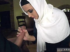 arab first time hungry woman gets food and fuck