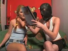 Masked men fuck the teen Babysitter
