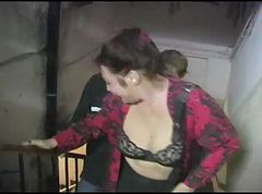 Fat chubby redhead russian mature gets two big facials