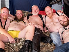 5-Man Sex Den Orgy - Part 1 - BearFilms