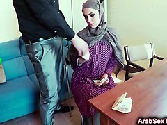 arab slut gives head and gets pounded in doggy