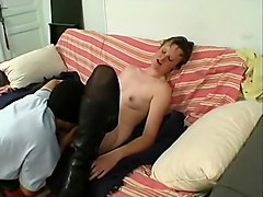 Horny Homemade clip with Stockings, Brunette scenes