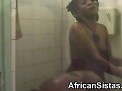 black slutty lesbians nelly and natasha have fun in the shower