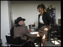 Arab Slut Sucks And Fucks In The Office