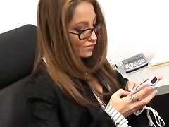 A Secretary Gets Fucked By Her Coworker Then By Her Boss