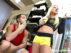 Lovely Riley Evans Gets Her Pussy And Mouth Plundered By Her Trainer