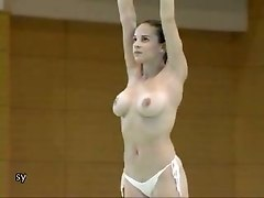 Nude Gymnast Practices