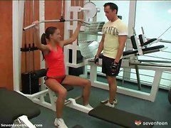Teen Banged In The Gym