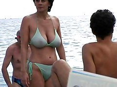 Hot Milf In Bikini At The Beach