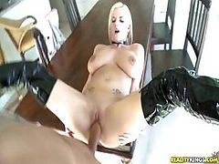 Busty Blonde Haley Is Getting Fucked Hard On A Table By Ramon