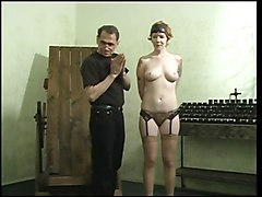 Sexy Slave With A Nice Rack, Bound & Gagged, With Her Pussy Being Teased